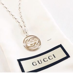 New Authentic GUCCI Interlocking GG Necklace 20""